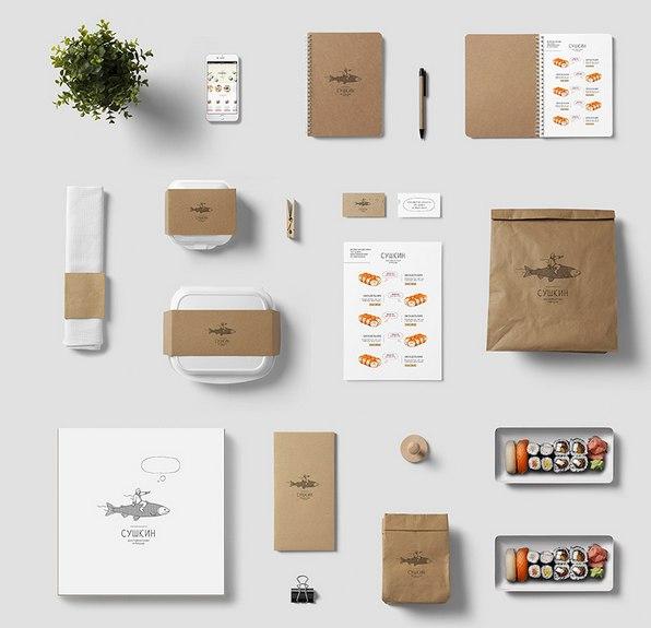 Дизайн доставки суши